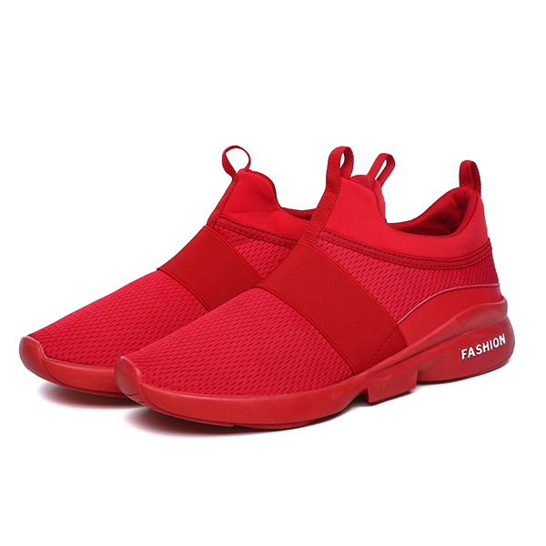 Men Comfy Ankle Cushion Slip On Sports Sneakers