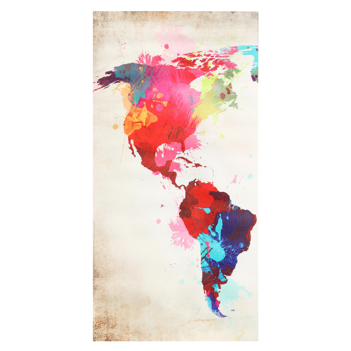 3PCS Colorful World Map Frameless Canvas Print Mural Painting Home Decoration