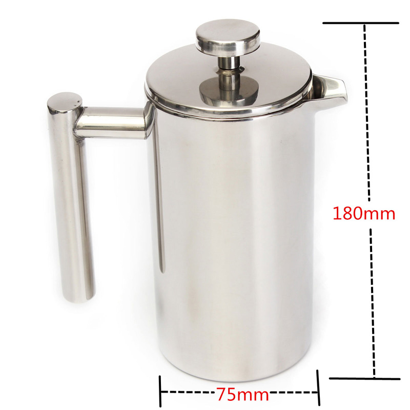 Original 350ml Doublewall Stainless Steel Coffee Plunger French Press Tea Maker Handy Coffee ...