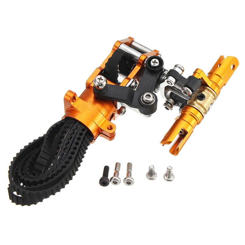 XFX 450 V2 RC Helicopter Parts Metal Tail Holder Orange - Photo: 2