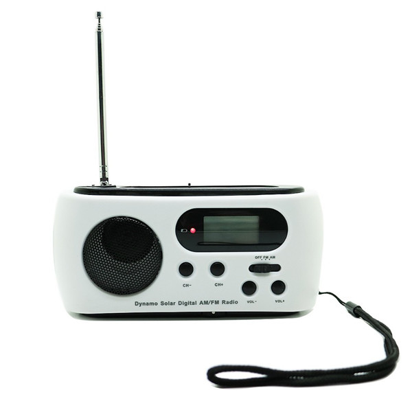 RD612 Portable Solar Dynamo Power AM/FM Digital Radio With 3 LED Flashlights Support Phone Charge