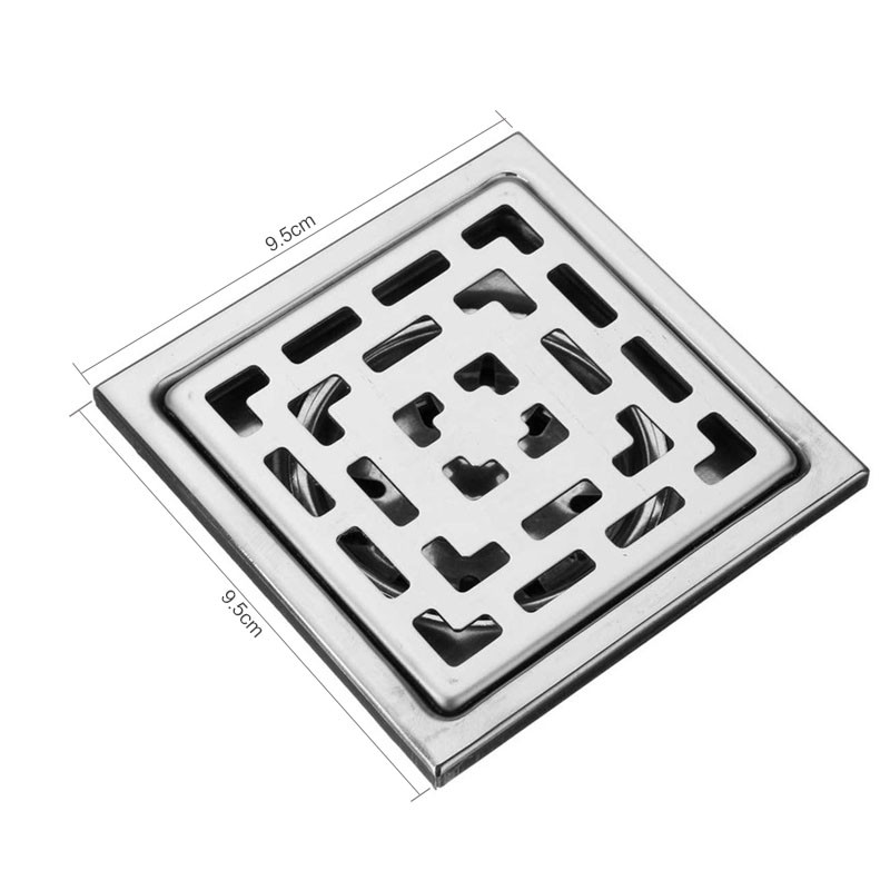 Bathroom Floor Drain Strainer : Cm three layers square stainless steel bathroom floor