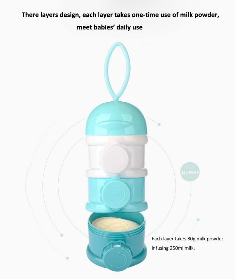 GL 3 Layer Portable Newborn Milk Formula Powder Box Baby Food Storage Container PP Food-Grade Safe Material Snacks Candy Supplies Boxes