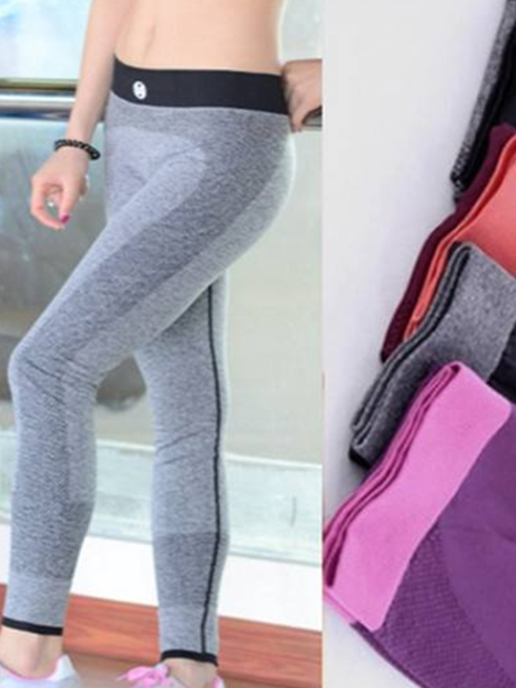 Women Sweat-absorbent Workout Elastic Sportwear Running Trousers Yoga Ninth Fitness Pants Leggings 2017 women s yoga pants workout capri leggings running tights side pockets functional pattern patchwork sports leggings jnc2315