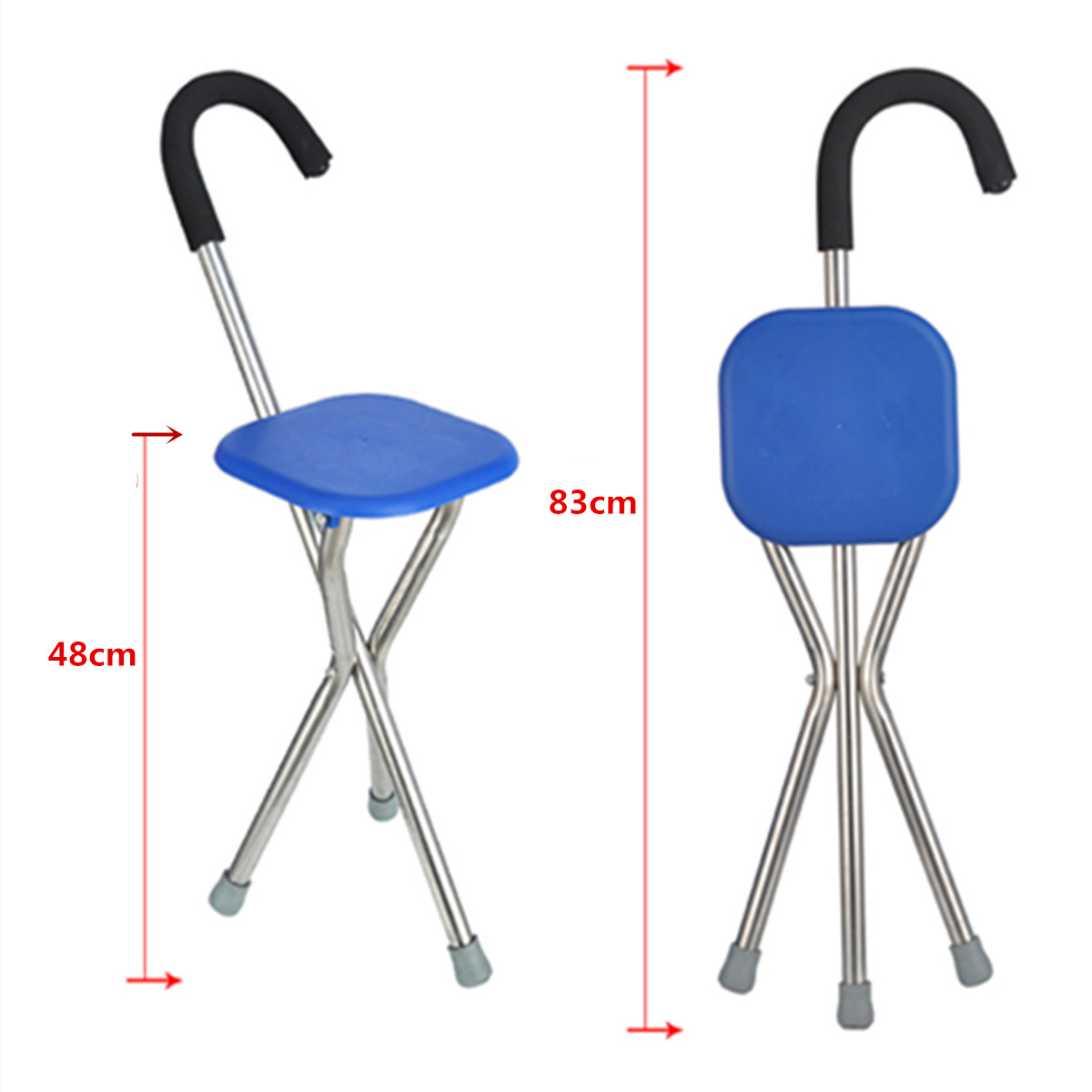ipree outdoor travel folding stool chair portable cane. Black Bedroom Furniture Sets. Home Design Ideas