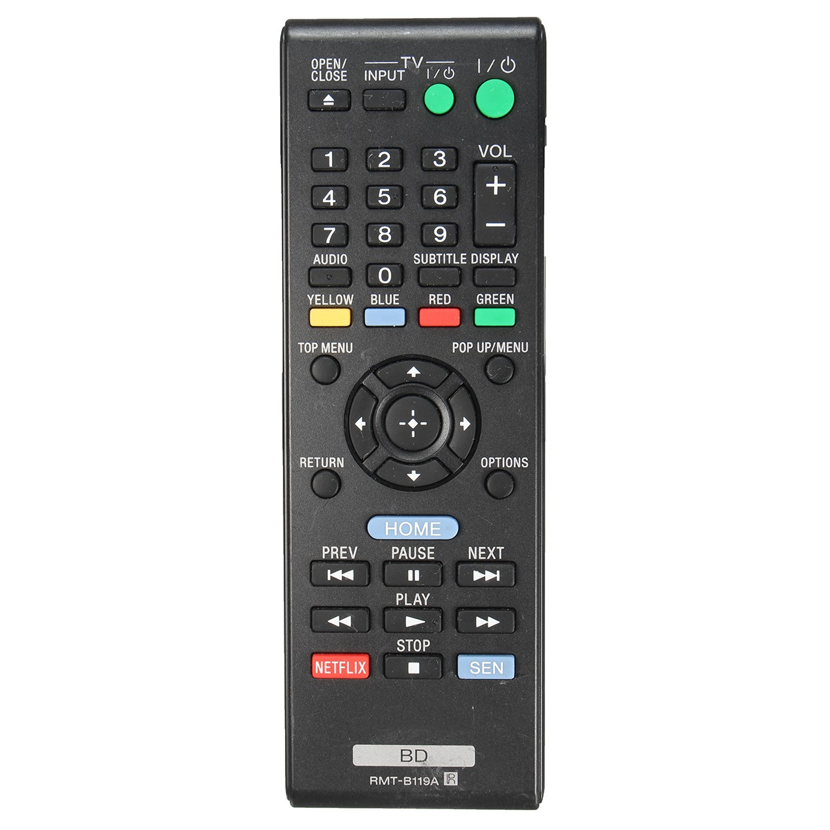 Blu-ray Remote Control RMT-B119A fit for Sony BDP-BX59 BDP-S390 BDP-S590