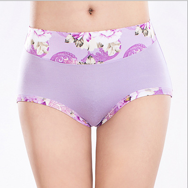 Women Elastic Soft Comfy Breathable Modal Floral Printed Waist Briefs Panties Underwear speedo шорты для плавания