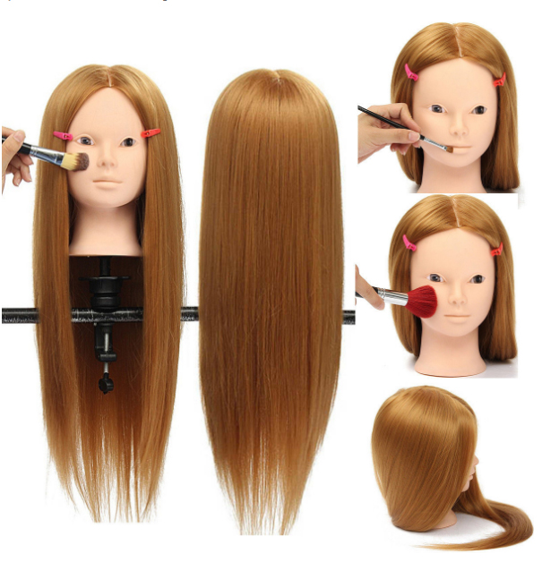 This item come with a clamp holder,  which can be attached to a table to secure the mannequin head for training purposes. Suitable for cosmetology students or anyone practice cutting,  braiding,  setting, etc. The best economical way to practice and upgrade oneself.