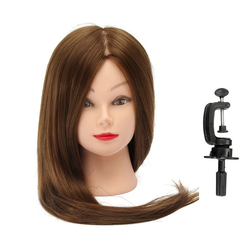 This item come with a clamp holder,  which can be attached to a table to secure the mannequin head for training purposes. Suitable for cosmetology students or anyone practice cutting,  braiding,  setting,  and rinsing,  etc.The best economical way to practice and upgrade oneself. Can not permed hair,  curled ,  dyed,  straight hair.