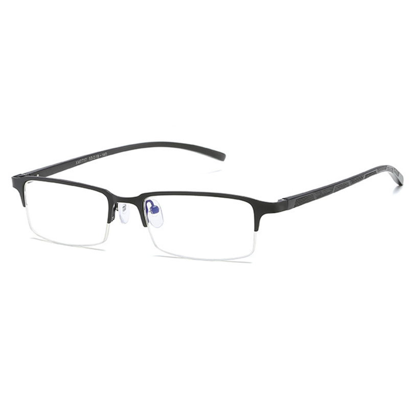 Mens Metal Anti-fatigue Anti-blue Light Fake Glasses Casual Computer Eye Protection Glasses