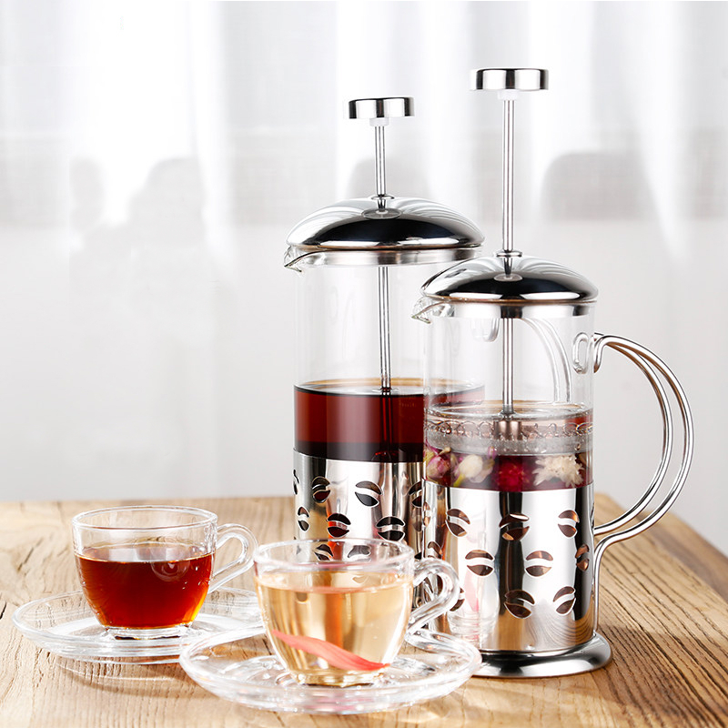 Stainless Steel Insulated Coffee Tea Maker Filter Double Wall French Press Drinkware