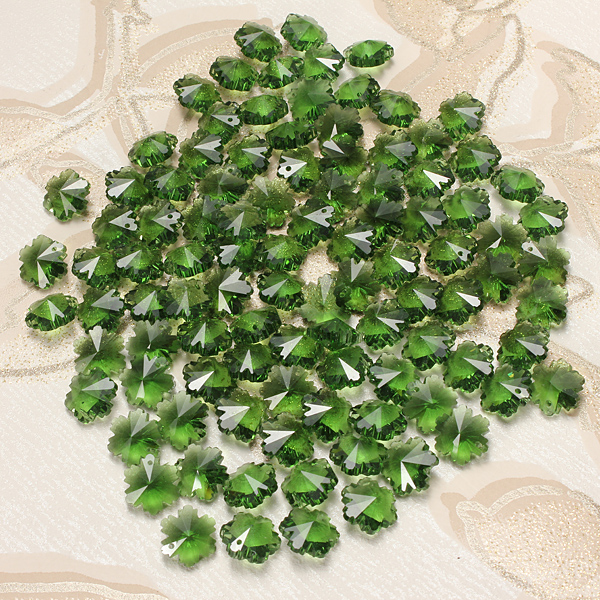 100pcs Snowflake Crystal Glass Beads Jewelry Making Accessories