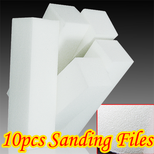 10X White Nail Art Buffer Buffing Sanding Files Block - EachineNail Files &amp; Blocks<br>Features: Sanding Block File Nail Art Suitable for Professional use and personal use. Ideal product for manicure/pedicure. Description: Quantity: 10pcs Weight: app 56g Size: app 9.5cm X 2.5cm X 2.5cm Color: white Package Included: 10pcs nail art buffer<br>