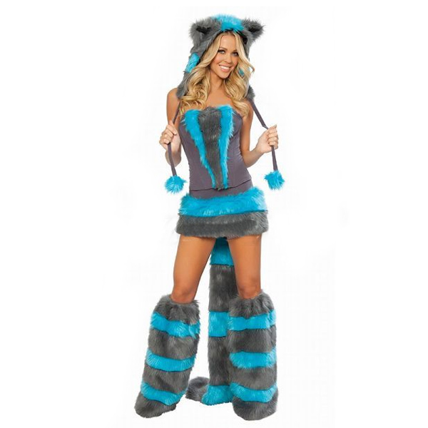 Cat Women Costume Set Fashion Sexy Cheshire Thicken Brushy