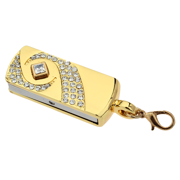 16GB Diamond Rhinestone Flash Driver Mini USB 2.0 Memory U Disk