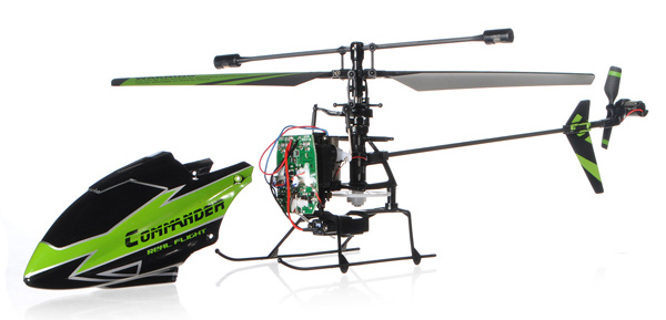 WLtoys V911-1 4CH Helicopter Green BNF With 200mAh Batteries