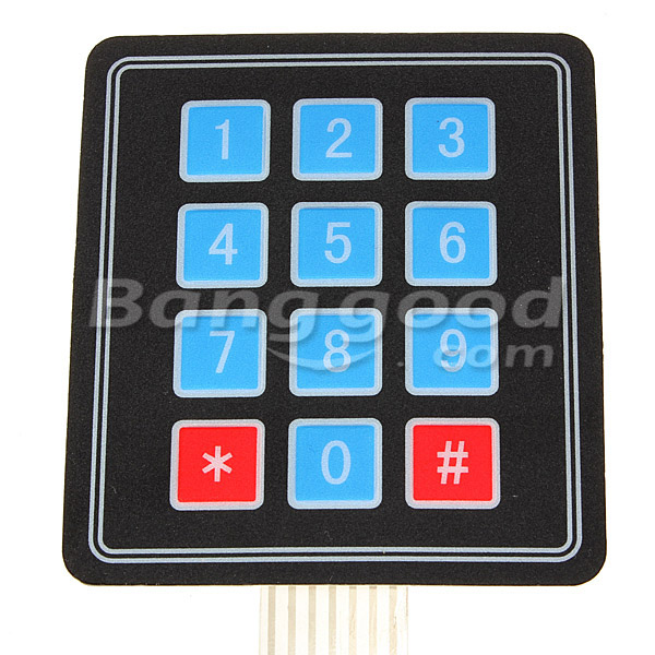 SKU088310c 10Pcs 4x3 Matrix 12 Key Array Membrane Switch Keypad For Arduino