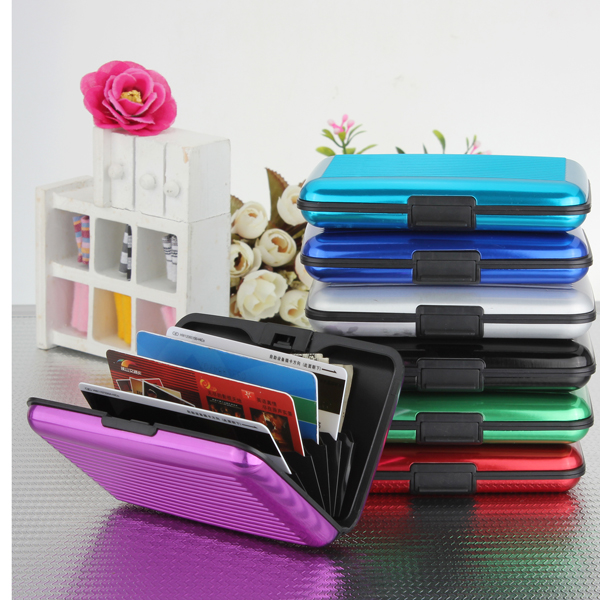 Waterproof Aluminum Metal Business ID Credit Card Wallet Holder case credit and risk analysis by banks