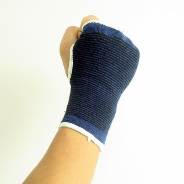 Sports Outdoor Polyester Elastic Palm Support Hand Guard 1 Pair Blue