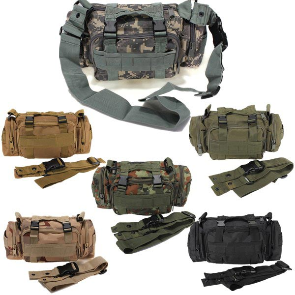 Outdoor Sports Camouflage Backpack Rucksack Camping Hiking Waist Bag Pack - visiocology.com