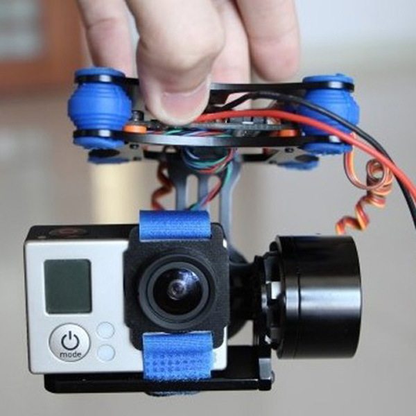 FPV 2 Axis Brushless Gimbal With Controller For DJI Phantom GoPro 3