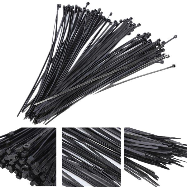 100Pcs Plastic Nylon Cable Ties Zip Wire Wrap Strap 10m lot 3mm high stainless steel wire rope tensile diameter 7x7 structure cable gray