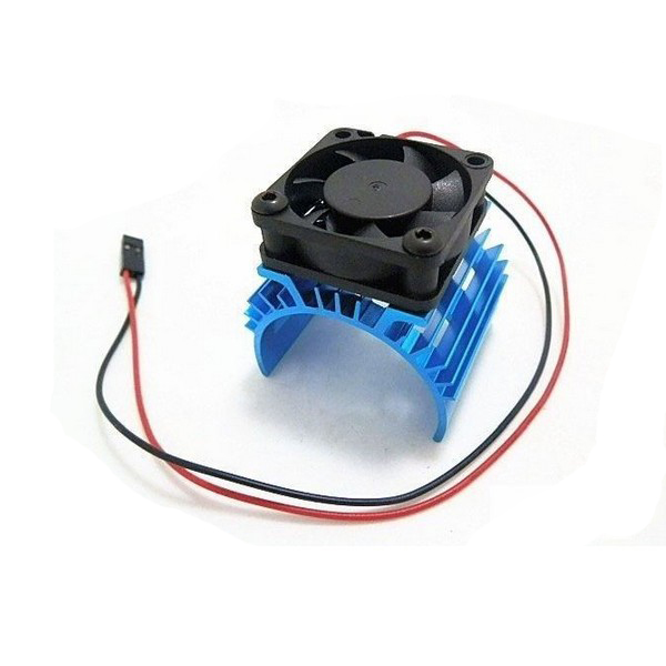 Metal Heat Sink 5V Cooling Fan For 1/10 Car 540 3650 Motor