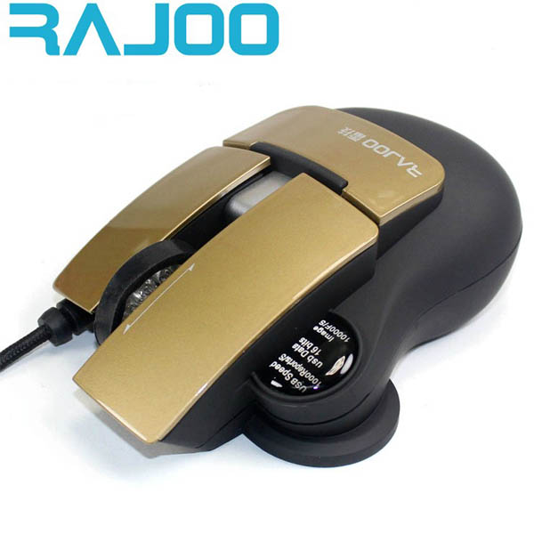 RAJOO 4D Gaming Mouse USB Wired 2400 DPI Optical Mice