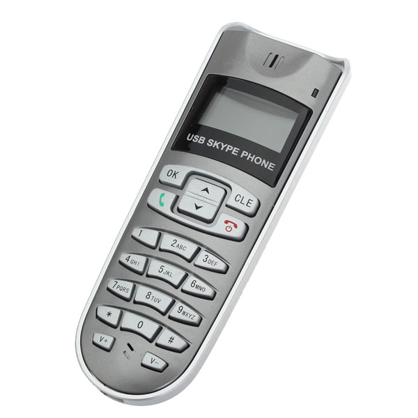 USB SKYPE Phone LCD Disply PC to PC PC to Phone 1.4Inch USB 2.0 1.1