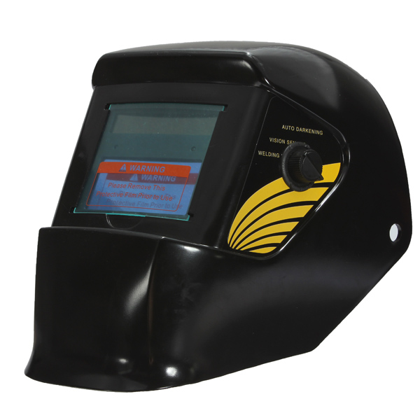 Auto Darkening ARC Mig Tig Mag Welding Helmet Welder MaskElectrical Soldering Welding Tools<br>Note on 2014-7-30th : This Auto Darkening Welding Helmet has Upgrade the lens (Lens style can look in : SKU143936 )from now on, which is not only suit for Argon Arc Welding but also can perfect use for Electrical Welding work. The upgraded lens will bring you the full range of protection ... Description : Solar Auto-Darkening Welding Helmet ARC Mig Tig Mag Welding Grinding Welder Mask 1.Completely protect your eyes. when welding the red/uv and strong light. 2.Release hands,then reduce the time of welding machine. 3.Solar power and special lithium battery power supply, Do not any replacement. 4.You can according to adjust the dark state through the external adjustment knob.No need to pick up the hat for adjustment. 5.It can be widely used in the mainstream way of spot welding, argon arc welding, carbon dioxide gas shielded arc welding, plasma welding, etc Shade Adjustment Features a shade adjustment for light or dark settings. This feature allows you to set the helmet to a lighter shade when welding thin material and a darker shade for welding heavier material. Oxygen Acetylene Torch Cutting This setting is perfect for torch cutting with an oxygen acetylene torch. Offers full face protection while cutting. Grinding Setting mode This setting you to see what you are grinding while allowing full face protection. Fully Adjustable Head Gear Features fully adjustable ratcheting headgear. Also includes a very comfortable sweat band. The head gear allows you to position the helmet further or closer away from your face. This feature is only found on $400 welding helmets. Super Light Weight Helmet is extremely light-weight to prevent user fatigue. Flame Skull Look Finished in a very cool Flame Skull look. Specification : 1. Viewing Area : 100 x 45mm(3.93 x 1.77) 2. Size of Helmet : 340220210mm(13.38 x 8.66 x 8.26) 3. UV/IR protection : DIN 15 or up 4. Clear state Shade NO : DIN4 5. Dark State Shade NO : DIN9-DIN13(TN02A),DIN8-DIN12(TN02H) stepless adjustment 6. Power Supply : Solar cells.NO battery change required 7. Power on/off : Fully Automatic 8. Response time : A) Clear to dark : less than 1/25000sB) Dark to Clear : 0.2-0.35s 9. Sensitivity Control : Adjustable 10. Operating Temp. : -10~+55 11. Storing Temp. : -20~+70 Package includes : 1 x Solar Auto Darkening Welding helmet Details pictures :<br>