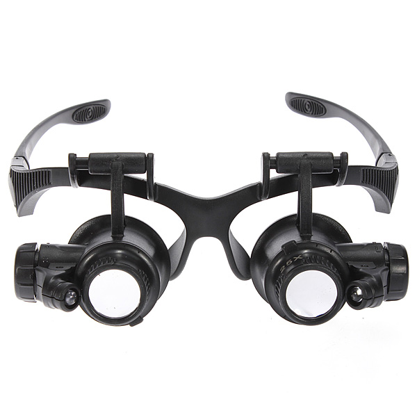 8 Lens 10x 15x 20x 25x Headband 2LED Magnifier Magnifying Loupe 9892G 4 lens headband led head light magnifier magnifying glass loupe