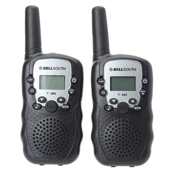 T-388 0.5W UHF Auto Multi-Channels Mini Radios Walkie Talkie Black m 860 uhf 8 channel 2 way radio twin walkie talkies