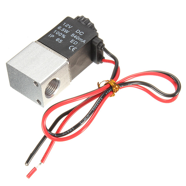 1/4inch DC 12V 2 Way Normally Closed  Electric Solenoid Air Valve high quality dc 12v 250ma 3w 2 positions 5 ports 4v210 08 model pneumatic solenoid valve free shipping