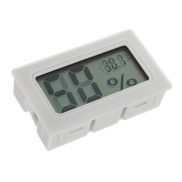 Mini Digital LCD Thermometer Humidity Meter Gauge Hygrometer Indoor cigar box shape 1 0 lcd electric thermometer humidity meter black 1 x ag13