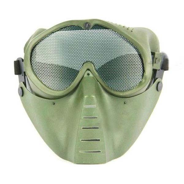 Tactical CS Protective Face Mask Ventilated Antigas Mesh Masks