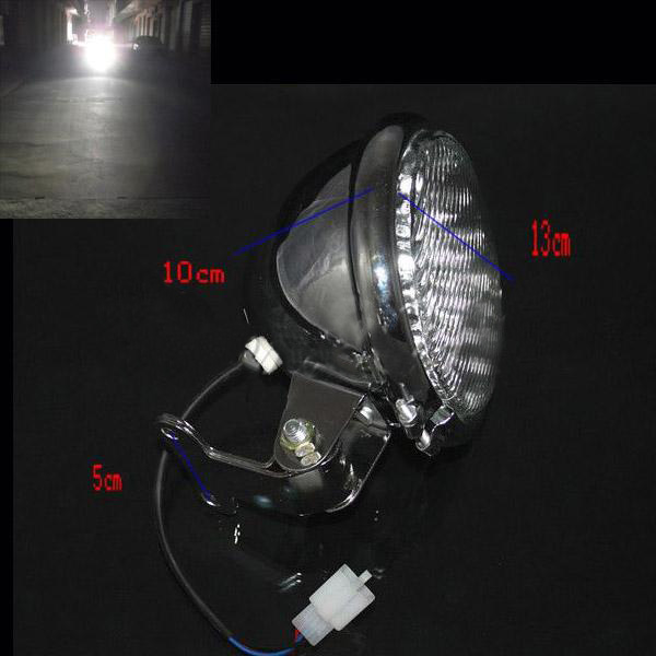 Front Motorcycle Chrome 5 Inch Led Headlight for Harley Bikes