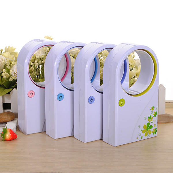 Mini Bladeless Fan Refrigeration No Leaf Air Conditioner USB Desktop portable electric heater 3 gear hide the power cord heater warm air handy blower room fan radiator warmer for office home