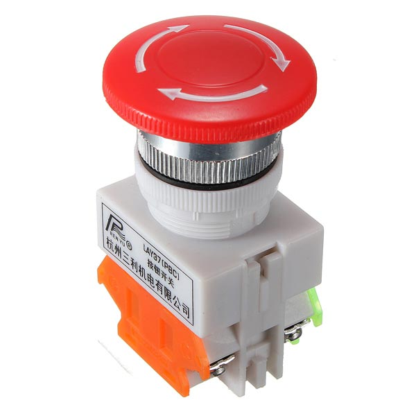 N/O N/C Emergency Stop Switch Push Button Mushroom 4 Screw Terminals electric guitar pickups humbucker double coil pickup guitar parts accessories black
