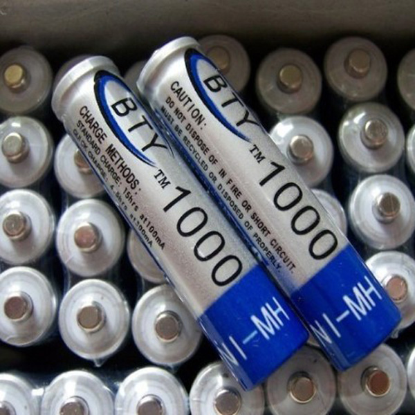 BTY 1.2V 1000mAh 4Pcs AAA Ni-MH NiMH Rechargeable Battery