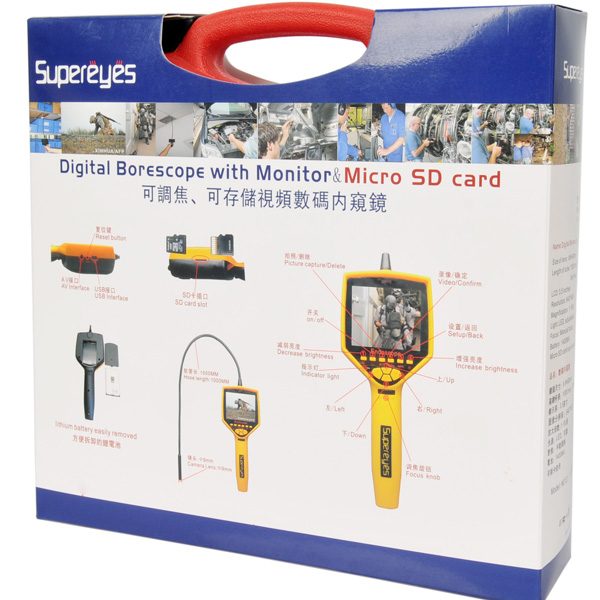 Supereyes N014J Handheld 3.5Inch Video Recording Inspection Camera