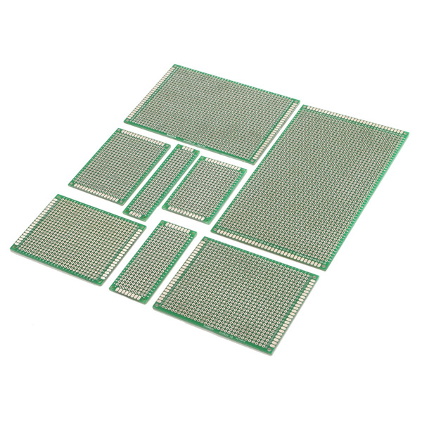 Double-Side Prototype PCB Universal Printed Circuit Board 6 in 1 double sided pcb prototype boards set green