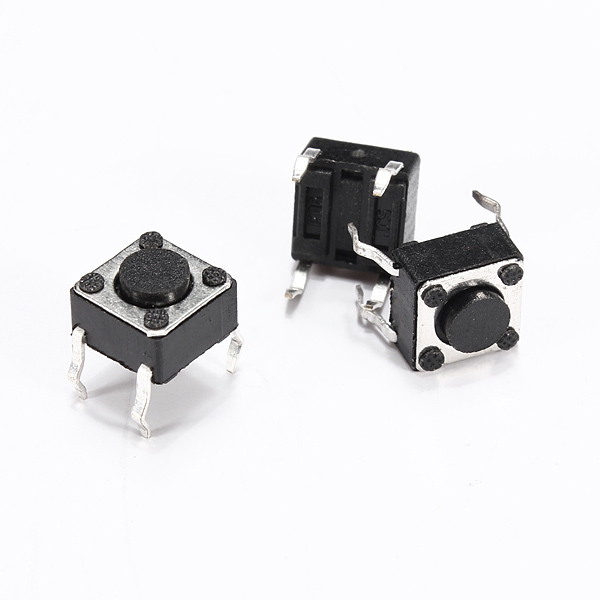 1pc 6 x 6 x 4.3mm 4-pin DIP Tactile Touch Push Button Switch - EachineArduino &amp; SCM Components<br>1pc 6 x 6 x 4.3mm 4-pin DIP Tactile Touch Push Button Switch Specification: Size: 6 x 6 x 4.3mm Temperature: -30C ~ +70C Withstand voltage: AC250V Rated load: DC12V 50mA Contact Resistance: 0.03 Insulation Resistance: 100M Package included: 1 x Tact switch<br>