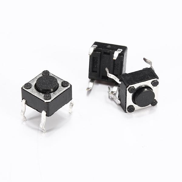 1шт 6 х 6 х 4.3 мм 4-контактный DIP тактильные прикосновения кнопочный переключатель