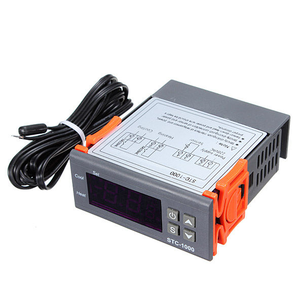 Digital STC-1000 220V All-Purpose Temperature Controller Thermostat With Sensor zhongshan juchuang jcw 823 electronic thermostat temperature controller digital temperature controller