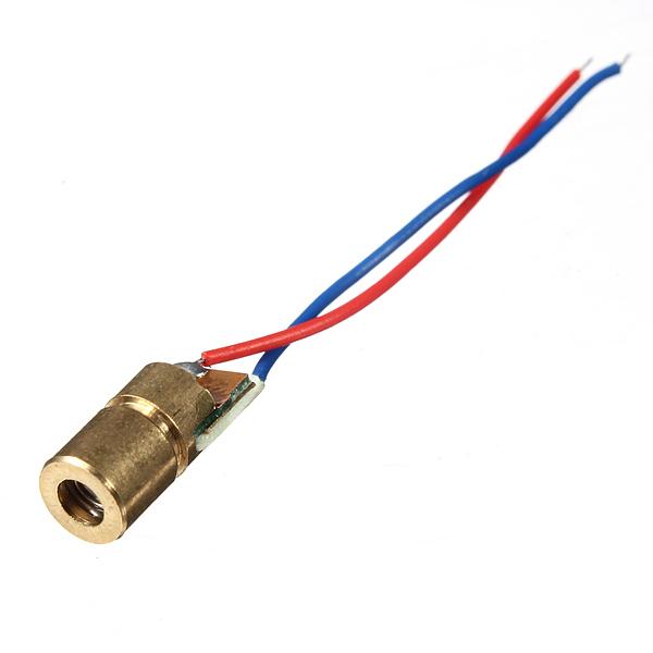 1 Pc 650nm 6mm 3V 5mW Mini Dot Diode Module Head WL Red