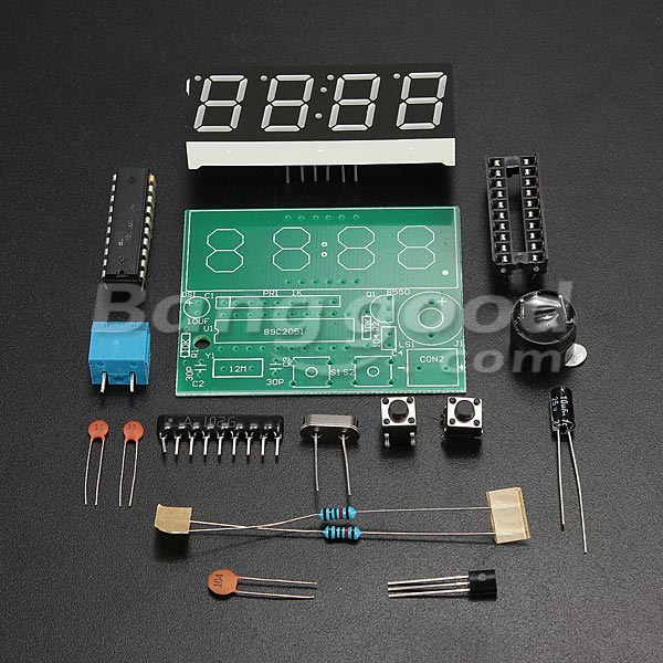 SKU117724 (4) 3Pcs C51 4 Bits Electronic Clock Electronic Production Suite DIY Kits