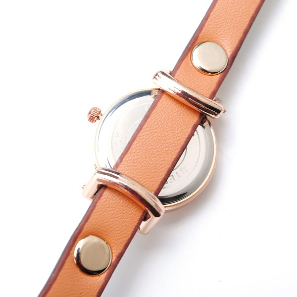 Leather Rivet Red Watch
