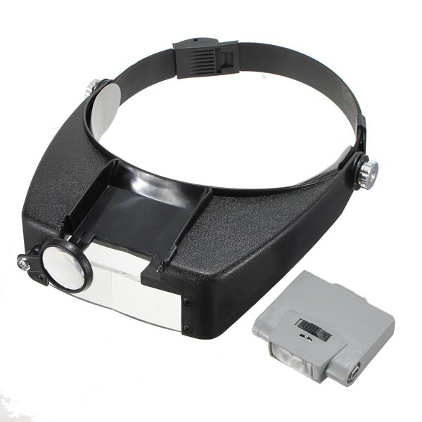 10x lighted magnifying glass headset led headband loupe ebay. Black Bedroom Furniture Sets. Home Design Ideas