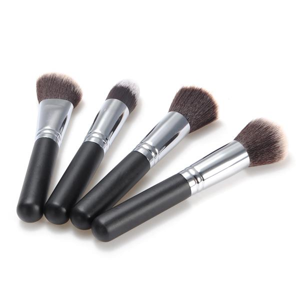 4pcs Fiber Cosmetics Makeup Blush Loose Powder Brush Set