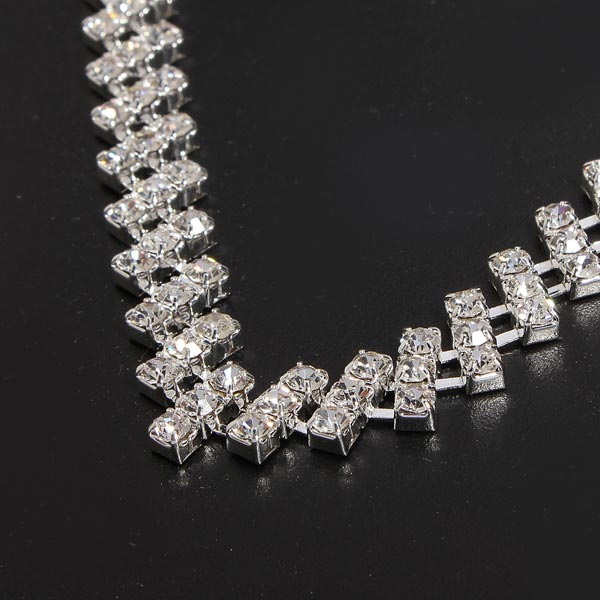 square crystal jewelry set